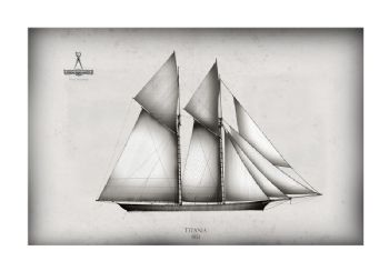 America's Cup Yacht 1851 Titania